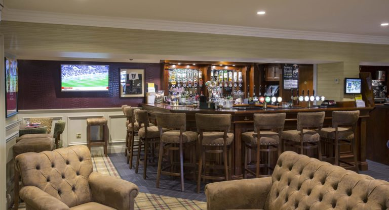 Monasterboice Inn: View of the bar with sports on TV